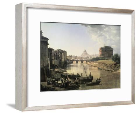 Rome, Castel San Angelo-Silvestre Chedrin-Framed Art Print