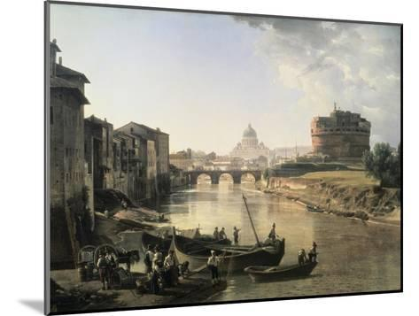 Rome, Castel San Angelo-Silvestre Chedrin-Mounted Giclee Print