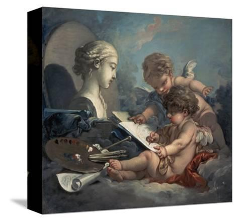 Allegory of Painting Amore-Francois Boucher-Stretched Canvas Print