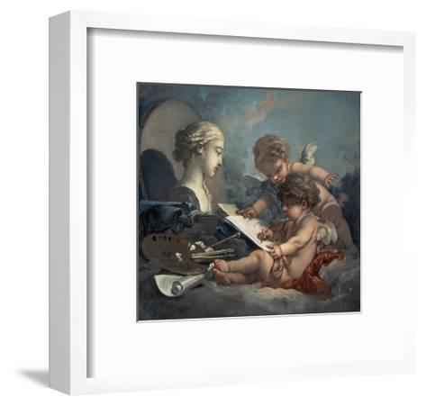 Allegory of Painting Amore-Francois Boucher-Framed Art Print