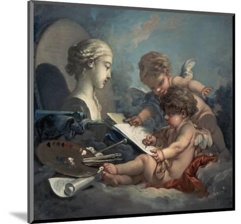 Allegory of Painting Amore-Francois Boucher-Mounted Giclee Print