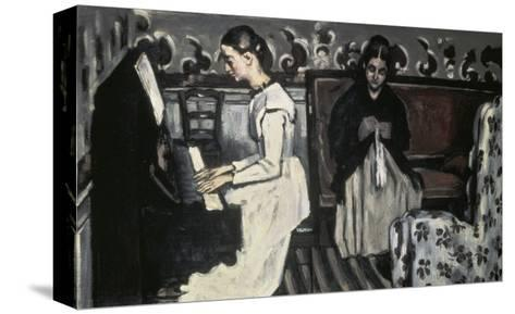 The Tannhause Overture Girl at the Piano-Paul C?zanne-Stretched Canvas Print