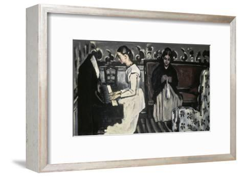 The Tannhause Overture Girl at the Piano-Paul C?zanne-Framed Art Print