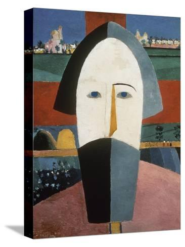 Farmer's Head-Kasimir Malevich-Stretched Canvas Print