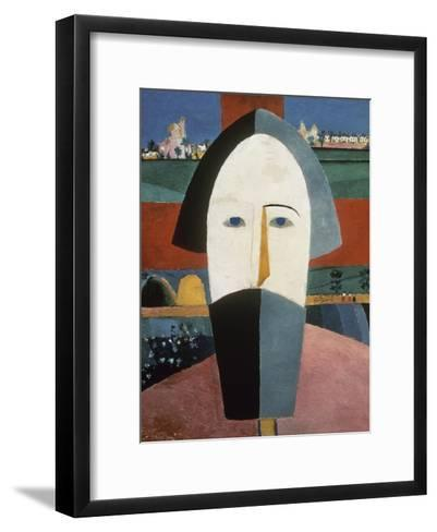 Farmer's Head-Kasimir Malevich-Framed Art Print