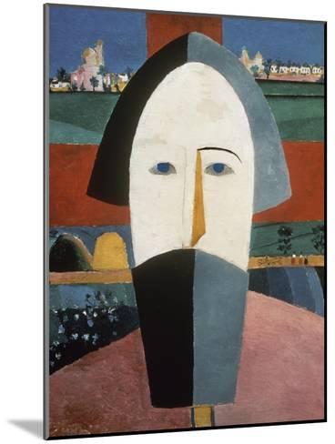 Farmer's Head-Kasimir Malevich-Mounted Giclee Print