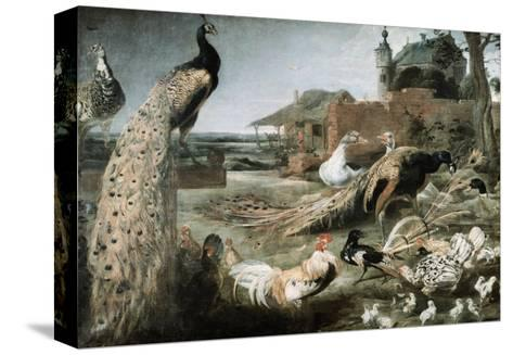 The Crow in Peacock Feathers-Frans Snyders-Stretched Canvas Print