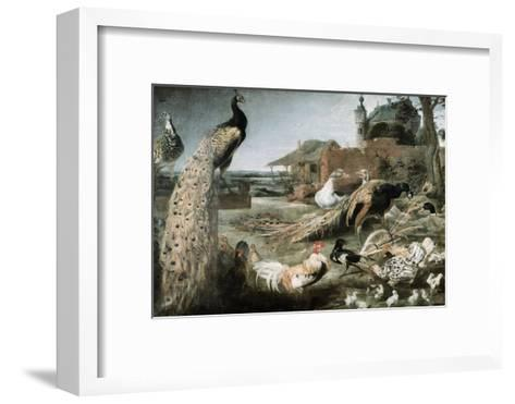 The Crow in Peacock Feathers-Frans Snyders-Framed Art Print