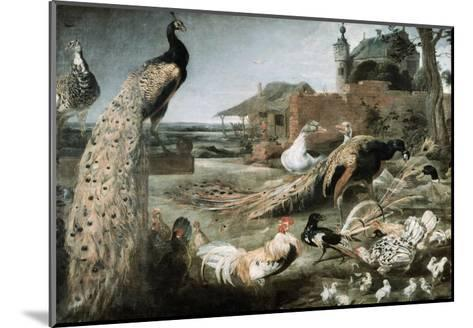 The Crow in Peacock Feathers-Frans Snyders-Mounted Giclee Print