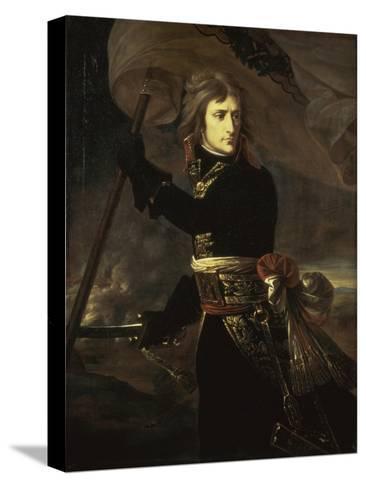 Napoleon on the Bridge at Arcole, c.1797-Antoine-Jean Gros-Stretched Canvas Print