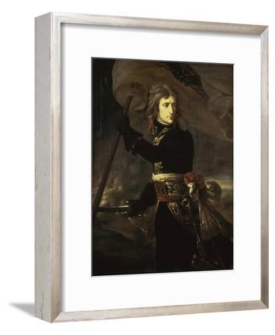 Napoleon on the Bridge at Arcole, c.1797-Antoine-Jean Gros-Framed Art Print