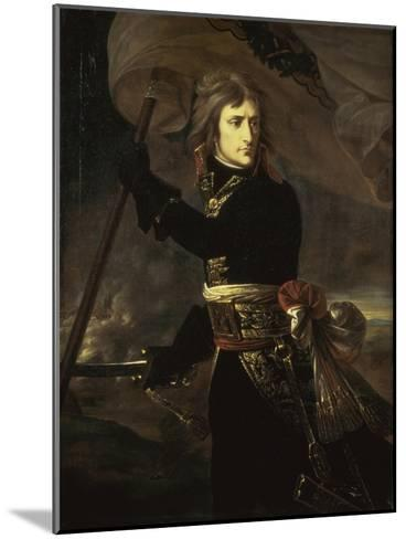 Napoleon on the Bridge at Arcole, c.1797-Antoine-Jean Gros-Mounted Giclee Print