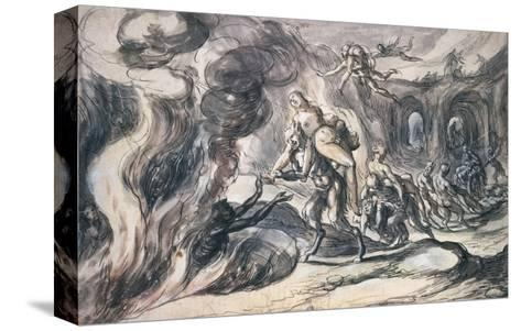 Eurydice in Hell-Hermann Weyer-Stretched Canvas Print