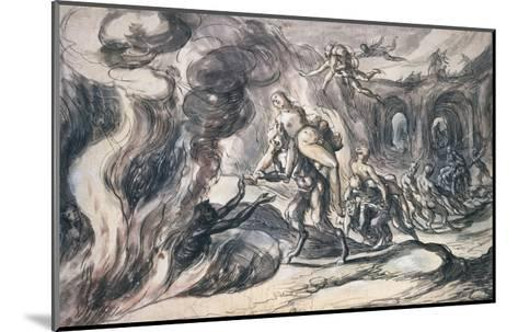 Eurydice in Hell-Hermann Weyer-Mounted Giclee Print