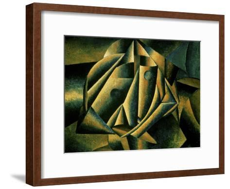 Face of a Peasant Girl, c.1912-Kasimir Malevich-Framed Art Print