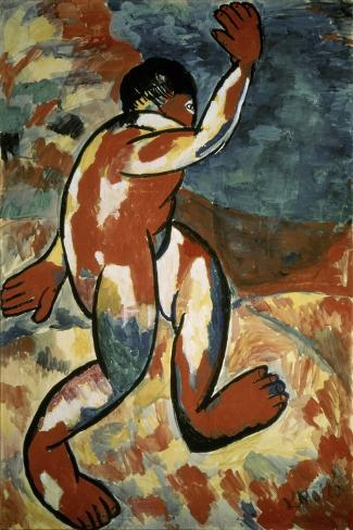 Bather, c.1911-Kasimir Malevich-Stretched Canvas Print