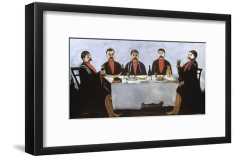 Feast of Five Princes, c.1906-Niko Pirosmanashvili-Framed Art Print