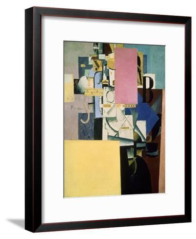 Lady by the Poster, c.1914-Kasimir Malevich-Framed Art Print