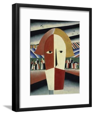 Peasant's Head, c.1928-1932-Kasimir Malevich-Framed Art Print