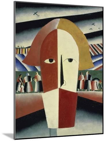 Peasant's Head, c.1928-1932-Kasimir Malevich-Mounted Giclee Print