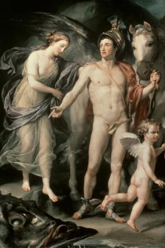Perseus and Andromeda, c.1777-Anton Raphael Mengs-Stretched Canvas Print