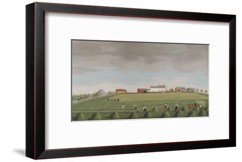 Ralph Wheelocks Farm, c.1822-Francis Alexander-Framed Art Print
