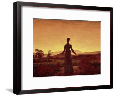 Morning Light-Caspar David Friedrich-Framed Art Print