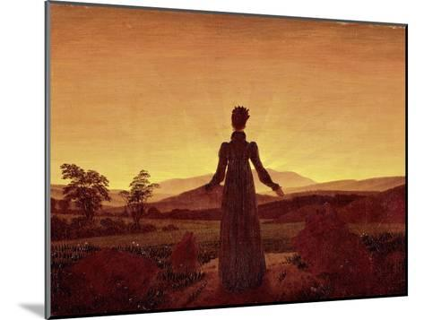 Morning Light-Caspar David Friedrich-Mounted Giclee Print