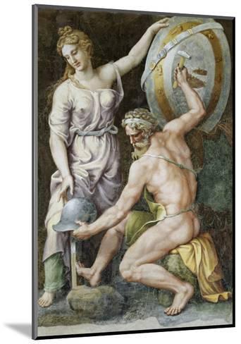 Vulcan Forging Armour For Achilles-Giulio Romano-Mounted Giclee Print