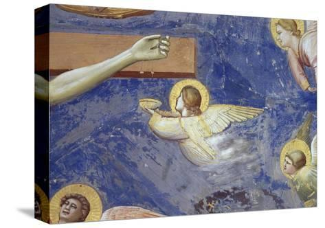 Detail of Angels Crucifixion-Giotto di Bondone-Stretched Canvas Print