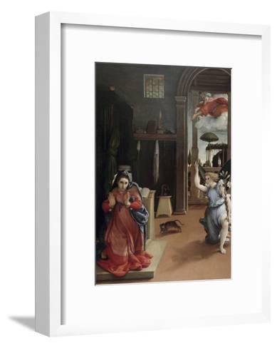 Annunciation-Lorenzo Lotto-Framed Art Print