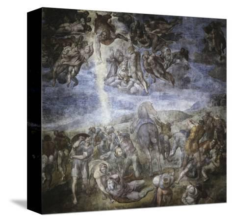 The Conversion of Saul-Michelangelo Buonarroti-Stretched Canvas Print