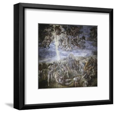 The Conversion of Saul-Michelangelo Buonarroti-Framed Art Print