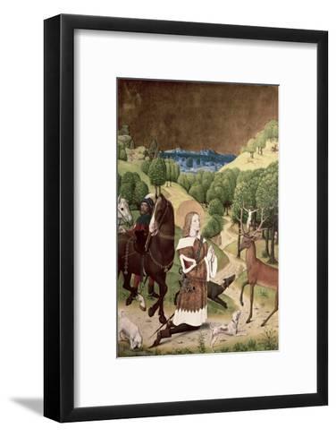 Conversion of St. Hubert-Master Of Werden-Framed Art Print