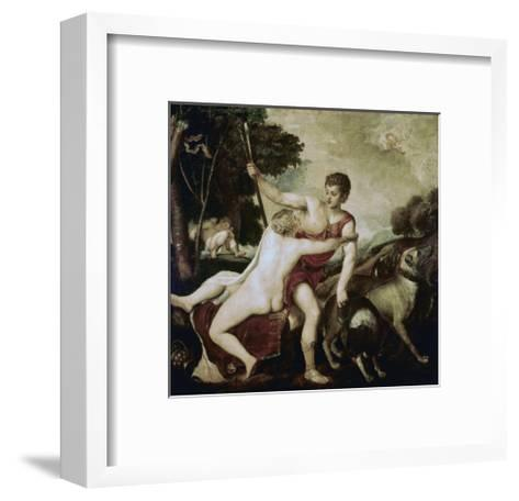 Venus and Adonis-Titian (Tiziano Vecelli)-Framed Art Print