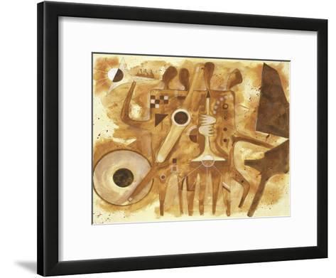 Aboriginal Jazz, c.1997-Gil Mayers-Framed Art Print