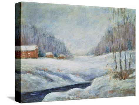 Winter Landscape-John Henry Twachtman-Stretched Canvas Print