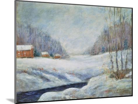 Winter Landscape-John Henry Twachtman-Mounted Giclee Print