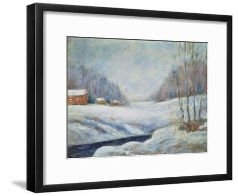 Winter Landscape-John Henry Twachtman-Framed Art Print