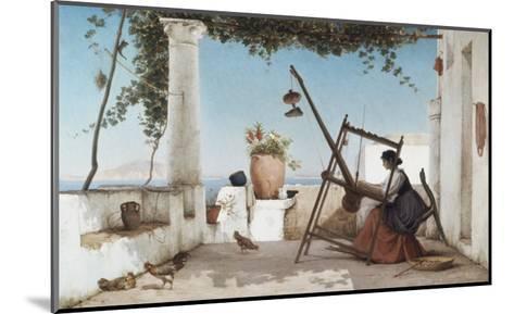 Spinning the Yarn-C. Wilhelm-Mounted Giclee Print