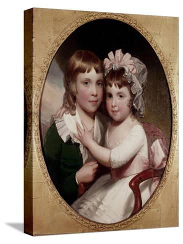 Brother and Sister-Thomas Sully-Stretched Canvas Print