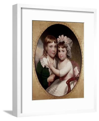 Brother and Sister-Thomas Sully-Framed Art Print