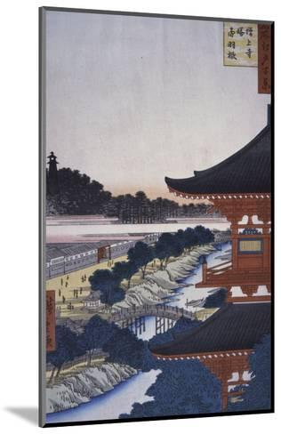 View of the Woods, 19th century-Ando Hiroshige-Mounted Giclee Print