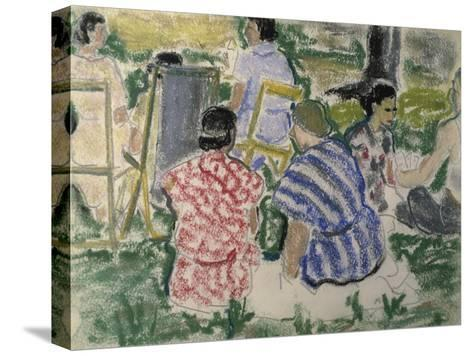 Afternoon Chat in the Park-Ethel Ashton-Stretched Canvas Print