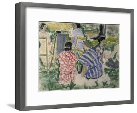 Afternoon Chat in the Park-Ethel Ashton-Framed Art Print