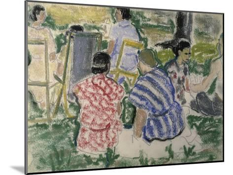Afternoon Chat in the Park-Ethel Ashton-Mounted Giclee Print