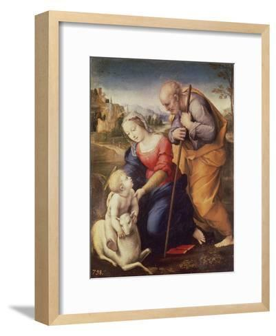 Holy Family with the Lamb-Raphael-Framed Art Print