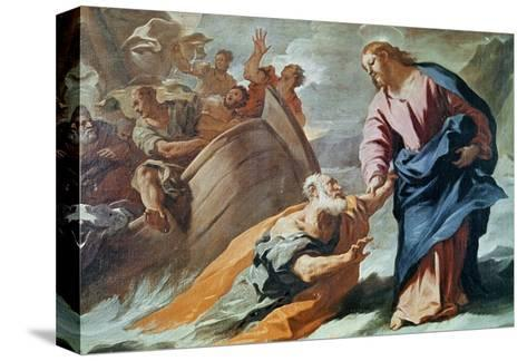 Jesus at the Sea-Luca Giordano-Stretched Canvas Print