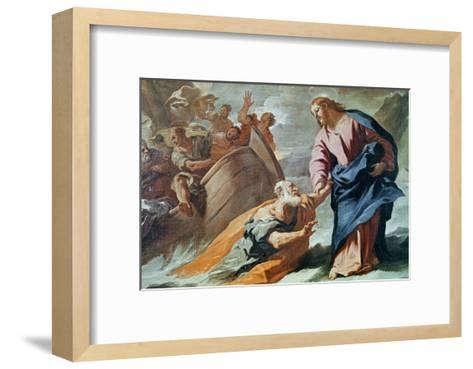 Jesus at the Sea-Luca Giordano-Framed Art Print