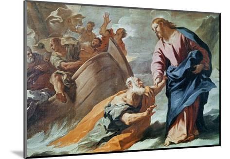 Jesus at the Sea-Luca Giordano-Mounted Giclee Print
